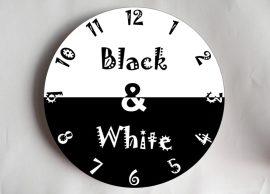 fekete-fehér falióra