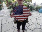 Amerikai zászlós falióra