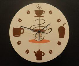 Kávés falióra